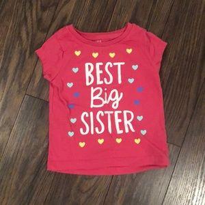 Best Big Sister Shirt 18 months